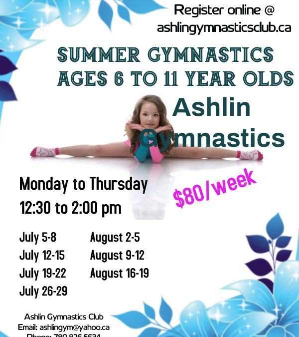 6-11 year old Summer Gymnastic classes